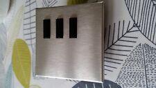 Lutron Interruptor 3 Botones (negro) QSWE-volumen-CCI Níquel Satinado Placa Frontal