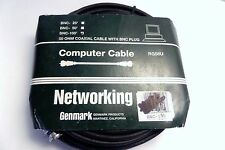 50 OHM COAXIAL COMPUTER CABLE WITH BNC PLUG RG58U (100' ft) 1 PACK