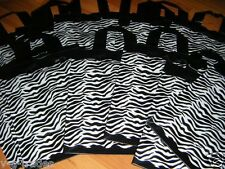 50 Zebra Print Frosted Plastic goodie treat merchandise party handle bags 8x5x10