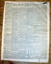 1862 Civil War hdlne newspaper CAPTURE of NEW ORLEANS Louisiana by UNION FORCES