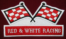 Outlaw Biker 1%er Red and White Racing Patch