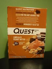 12 Chocolate Peanut Butter Quest Bars 20g Protein 1g Sugar AUG/20