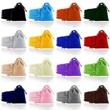 Velvet Jewellery Gift Bags Wedding Party Drawstring Pouches 5 Sizes 18 Colors