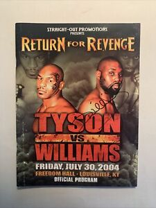 Mike Tyson-Danny Williams 2004 Program Signed By Williams With Folded Poster