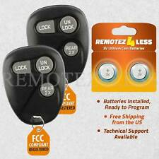 2 for Buick Cadillac Chevy GMC Pontiac Saturn Keyless Remote Car Key Fob 3bt