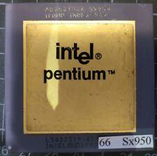 INTEL A80501-66 SX950 L5022378-0294, PENTIUM 66MHZ CPU PROCESSOR Gold Ceramic