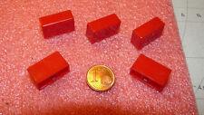 5 Stück Tastenkappen für Tastschalter, rot, rechteckig