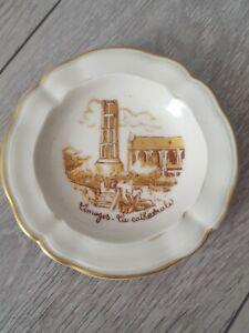 Coupelle Cendrier Vide Poche Porcelaine Limoges LA CATHEDRALE 30.01.1953