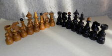 Vintage Chess Set ,Germany 1940's, wooden, Kings stand 10cm/4 inch