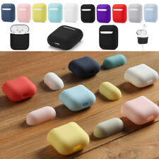 Silicone Airpods Protective Cover Case Slim Skin For Apple AirPod Earphones 2in1