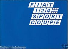 FIAT 124 Sport Coupe Brochure Catalog English Language Fold Out 2774