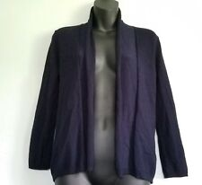 ZARA Knitwear Open Cardigan Sweater Navy Blue womens Size Small Girls Large EUC