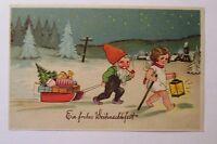 """"""" Christmas, Angel, Dwarf, Sled, Toy, Lantern """" 1930 (32865)"""