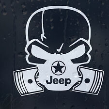 Gasmask Star Jeep Car Decal Vinyl Sticker For Bumper Window Panel