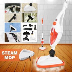 Maxkon Steam Mop Cleaner 10in1 Handheld Steamer Floor Carpet Window Cleaning Kit