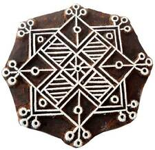 Decorative Rangoli Design wooden stamp Tattoo India Textile Printing Block