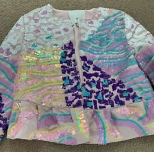 New RIVER ISLAND Girls multi sequin animal flare jacket size 9