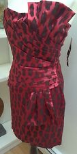 NWT Cocktail Party Dress Women's Elegant Red/Black Size 7