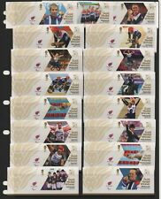 GB 2012 Paralympic Gold Medal winners stamps complete set 34 single Mint stamps