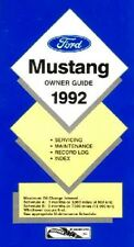 1992 Ford Mustang Owners Manual User Guide Reference Operator Book Fuses Fluids