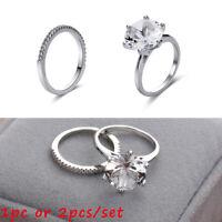 catalina et amélie 18k or blanc bague en diamant l'engagement de mariage bande