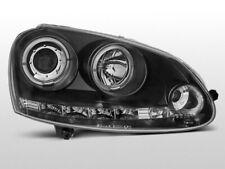 LPVWB8 Fari Fanali Anteriori VW Golf 5 03-08 a led Angel Eyes nero TuningShop-TT