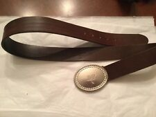 Abercrombie & Fitch Women's Leather Belt Size M.Rhinestones.Made in Italy