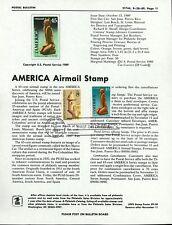 Ranto Cachet US FDC #C121 Unofficial Souvenir Page Pre Columbian Customs 1989
