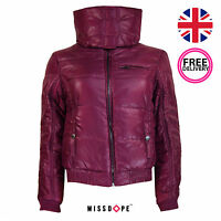 NEW RED WOMENS QUILTED WINTER COAT PUFFER JACKET LADIES THICK WARM BUBBLE WINTER