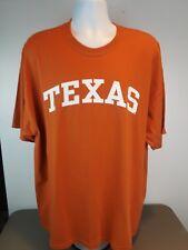 Texas Longhorns Orange T-Shirt Mens Short Sleeve Cotton Tee Sz 2XL NEW WITH TAGS