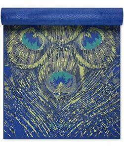 Gaiam Premium Print Yoga Mat Sapphire Feather  6mm 68L x 24W x 0.13H in.
