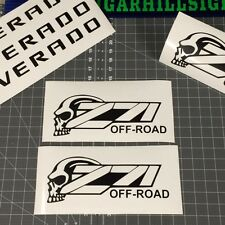 { 2 } VERY Nice CHEVROLET Z-71 Skull Bed Decals for CHEAP!!