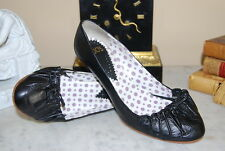 HEGO'S ITALY BLACK LEATHER MARY JANE HIGH HEEL WOMEN'S PUMP SHOES SIZE 40 US 9.5