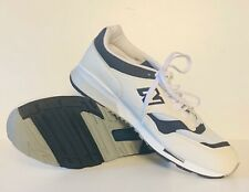 New Balance 1500 Made In England White Navy Running Shoes Men's Size 13 M1500WWN