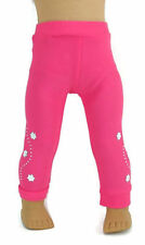 Bright Pink Leggings with Silver Accents fits 18 inch American Girl Doll Clothes