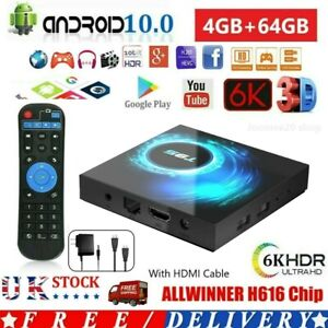 2021 T95 Android 10.0 TV Box Quad Core 16/32/64GB HD Media Player WIFI 6K HDMI