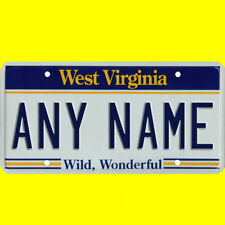 1/43-1/5 scale custom license plate set any brand RC/model car - West Virginia