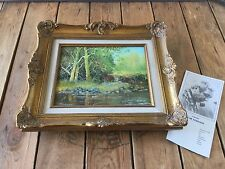 Original Oil Painting  Vintage Wood Gold Gild Frame by OSCAR SORMANI