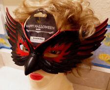 Eagle Black/Red Women or Man Mask Adult Size Costume Elastic Back Halloween NIP