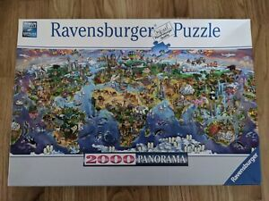 Ravensburger 2000 pieces World Wonders Panorama Jigsaw Puzzle 1 piece missing