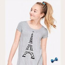 Justice Girls Size 10 Paris Short Sleeve Swingy Tee NWT