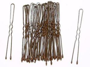 36 Pack Hair Pins Grips Waved Bobby Pins Brown Kirby Hair Grips 36pc Box - UK