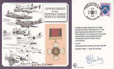 DM4 Distinguished Service Order Signed 2 Holders, I Stanley Falklands , R C Hay