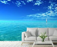 EGZOTIC LANDSCAPE TROPICS Wall Mural  photo Wallpaper SEA OCEAN Blue & White