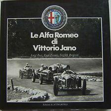 Le Alfa Romeo di Vittorio Jano Luxury large format book on Alfa Romeo in Italian