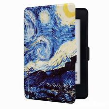 For Kindle Paperwhite 1 2 3 Automatic Slim Van Gogh Oil Painting Back Case Cover