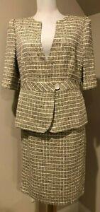 ARMANI Collezioni Womens Blazer Shirt & Skirt Suit 2 Pc Set Outfit NWOT - Sz 8