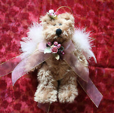 *NEW* VICTORIA'S GARDEN PRETTY ANGEL TEDDY BEAR WITH ROSES, RIBBONS & FEATHERS