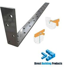 1mtr x 2.5mm Bent Joist Restraint Wall Plate Straps Galvanised Steel Pack of 20