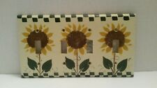 Cooper Wiring Devices SUNFLOWER THEME 4 Toggle Switch Wall Plate Decor NWOT